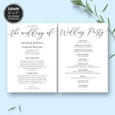 Elegant Wedding Program 9 Best Wedding Programs Images On Pinterest Wedding Program