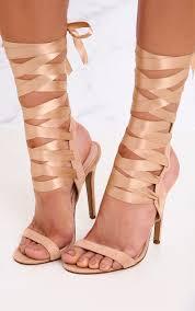 ribbon heels lorele ribbon lace up heeled sandals shoes