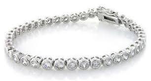 bracelet with diamonds images Tennis bracelet with diamonds in 18kt white gold total weight 0 jpg