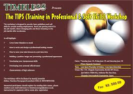 the timeless tips training in professional u0026 soft skills