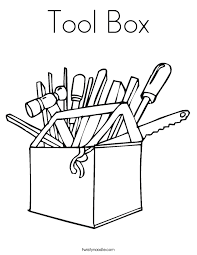 Tool Box Coloring Page Twisty Noodle Box Coloring Pages