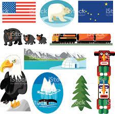 Alaska travel symbols images Alaska symbols stock vector art 165812635 istock
