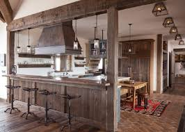 rustic kitchen design ideas rustic kitchen design ideas faux brick flooring backless