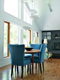 Blue Dining Room by New Blue Tweed Dining Room Chairs Update The Dining Room Dans Le