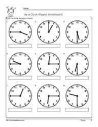time to the hour worksheet free worksheets library download and