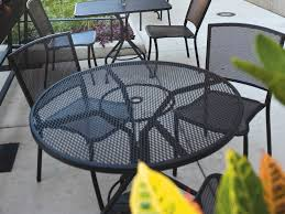 Patio Furniture Wrought Iron Dining Sets - woodard albion wrought iron dining set tdbos