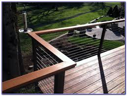 diy stainless steel cable deck railing decks home decorating