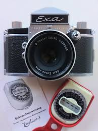 film camera light meter exa ihagee dresden slr 35 mm film camera carl zeiss jena tessar