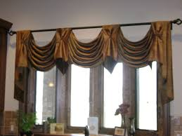 High Ceiling Curtains by Scalloped Valance With Tab Overlay In Complimentary Fabric Lh