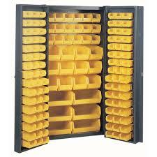 Yellow Storage Cabinet Edsal 72 In H X 38 In W X 24 In D Welded Steel Freestanding