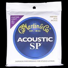 martin sp 80 20 bronze acoustic strings custom light 11 52