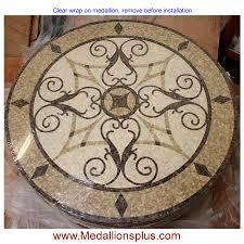 kristine 24 polished mosaic floor medallion medallionsplus com