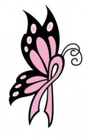 cancer ribbon butterfly clipart clipartxtras