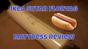 ikea sultan florvag queen size mattress review showing mattress