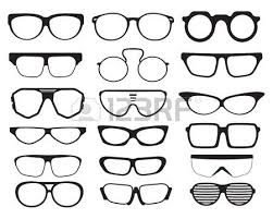 hand drawn glasses and sunglasses sketch royalty free cliparts