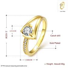 platinum crystal rings images Fashion rings women classic flower gold plated rose gold plated jpeg
