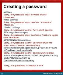 Password Meme - usual problems when creating password by rakac meme center