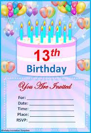 rectangular shape birthday card invitation templates blue color