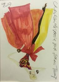 paddle8 drawing of ivana trump for vogue christian lacroix