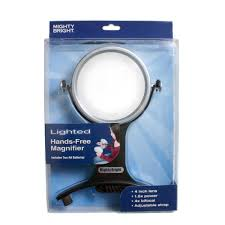 hands free lighted magnifier lighted 4 handsfree magnifier mighty bright