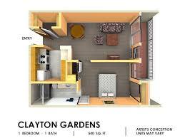 1 bedroom floor plans clayton gardens one bedroom apartments in concord ca