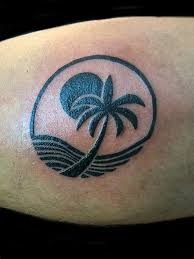 and palm tree black sheep miami tattoos