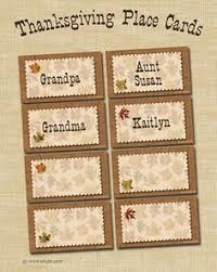 free thanksgiving printables thanksgiving place cards