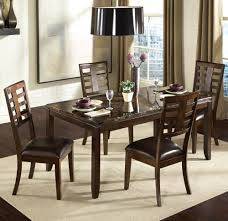 standard furniture bella 5 piece dining room set w faux marble