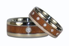 wood engagement rings titanium diamond wedding bands hawaii titanium rings