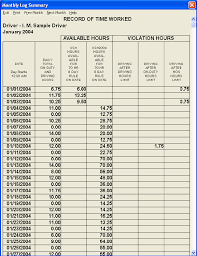 Driver Log Sheet Template 60 70 Hours Of Service Rule
