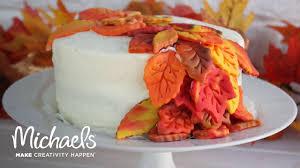 desserts thanksgiving fondant leaf cake darby smart