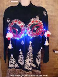 up ugly christmas jumper naughty sweater with funny