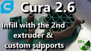 cura 2 6 how to print infill with the 2nd and add custom
