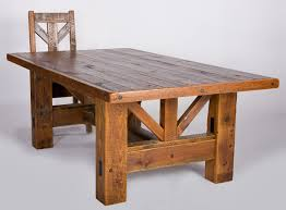 Timber Frame Dining Table Salvaged Barn Wood Rustic Old - Timber kitchen table