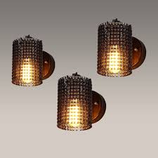 loft vintage industrial edison wall lamps bicycle chain wall