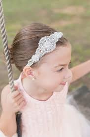 flower girl hair accessories baby girl wedding headbands pearl rhinestone headbands for