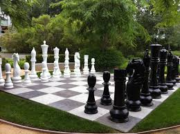 large outdoor chess set outdoor designs