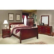 amazon com 4 pc louis philippe queen bedroom set by coaster