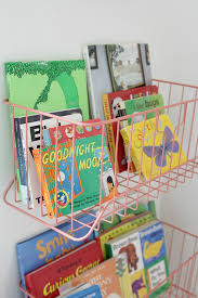 Wall Bookshelves For Nursery by Gemma U0027s Nursery Book Storage Storage And Wire Basket