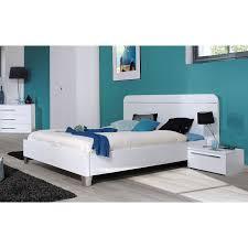 meuble de chambre adulte chambre complète adulte 160 cm laquée blanc achat vente
