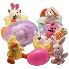 easter bunny gifts jumbo 6 easter eggs filled with plush easter bunny s