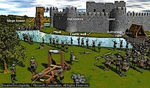 castle siege castle siege battering ram attack picture
