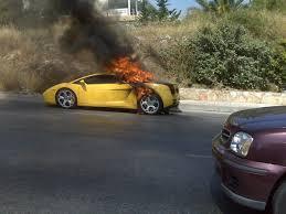 yellow lamborghini gallardo lamborghini gallardo literally burns to the ground in athens greece