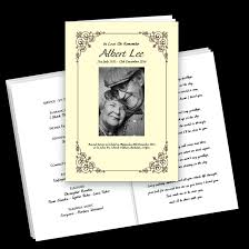 Funeral Booklets Funeral Order Of Service Printing Bespoke Designs Next Day