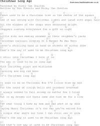 christmas carol song lyrics with chords for christmas long ago