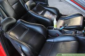 Seat Upholstery 7 Ways To Clean Car Upholstery Wikihow