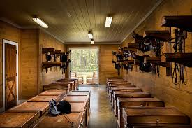 the tack room i can smell the saddle and wood tack trunks just looking at
