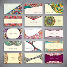 boho style business cards collection vector free