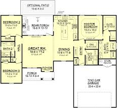 farmhouse style house plan 3 beds 2 baths 1609 sq ft plan 430