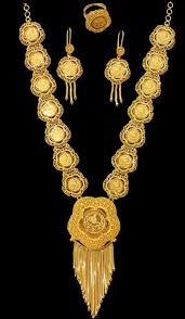 yellow necklace set images Yellow gold necklace set alquds jewelry jpg